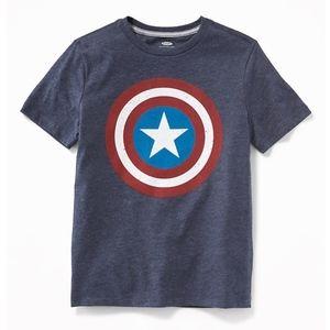 Marvel Comics Captain American Blue Short Sleeve T
